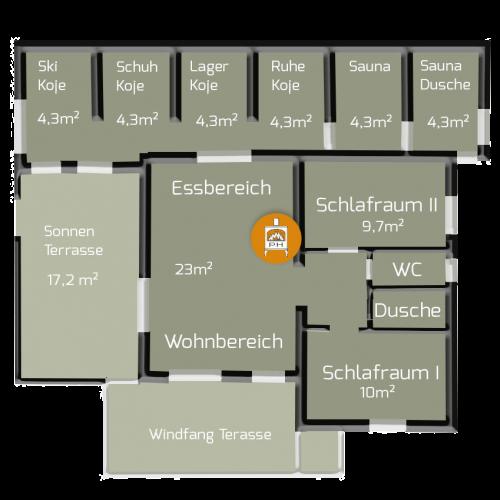 Hütte mieten am Arlberg | Pfefferkornhütte | Hüttenplan