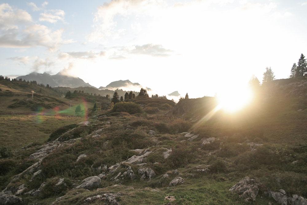 Hütte mieten am Arlberg   Pfefferkornhütte   Aussicht Westen